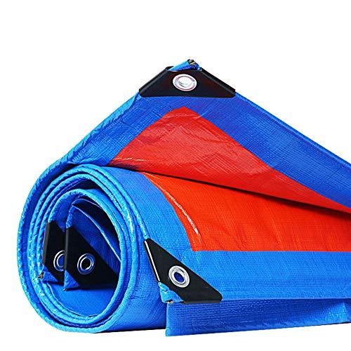 QIANGDA Abdeckplane Gewebeplane, Schutzplane Schutzfolie Licht Kunststoff Poly Pflanzenschuppen for Bauunternehmer, Camper (Reversibel, Blau Und Orange) (Size : 1.8mx1.8m)