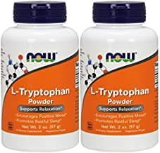NOW® L-Tryptophan Powder, 2 oz. (2-pk)