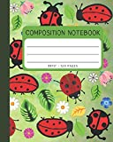 Composition Notebook: Little Ladybug Cover 8x10' 120 Pages Wide Ruled Paper , Inspirational Journal & Doodle Diary , School Book Supplies
