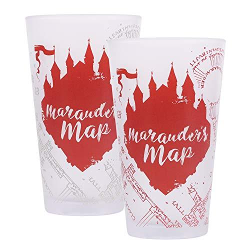 Bicchiere Harry Potter termosensibile ai liquidi freddi - Marauder's Map, la mappa del Malandrino
