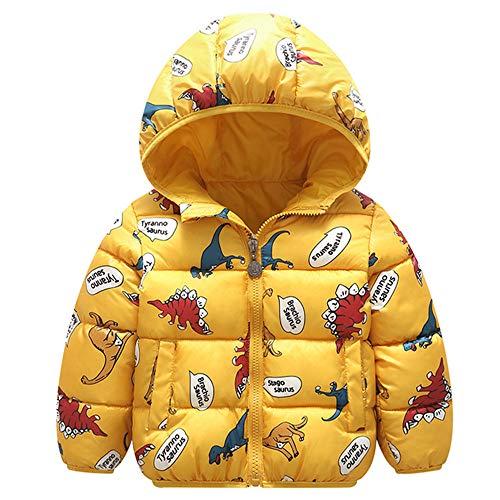 Minizone Niños Chaqueta con Capucha Abrigo de Invierno Ligeras Traje de Invierno 3-4 Años