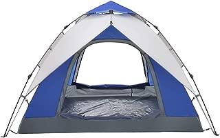 油圧自動キャンプテント、3-4人ポータブルアンチUVサンテント防水二重層屋外ハイキングピクニック大家族テント
