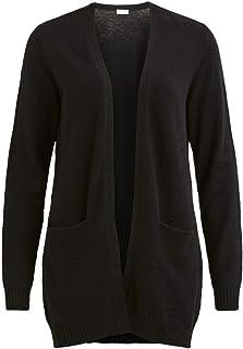 VILA CLOTHES Damen VIRIL OPEN L/S KNIT CARDIGAN - NOOS Strickjacke, North Atlantic, Normal