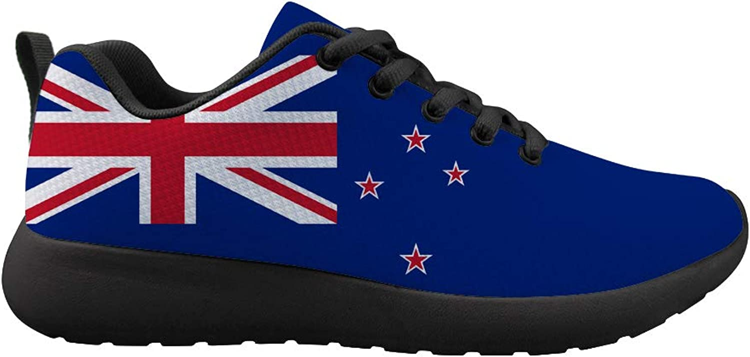 Owaheson Cushioning Sneaker Trail Running shoes Mens Womens New Zealand Flag