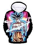 Sudaderas Dragon Ball Niño Sudadera con Capucha Hombres 3D Impresión Unisex Mujer Sudadera de Manga Larga Suéter Fresco Dibujos Animados de Fans Streetwear Sudaderas de Moda (9, XXS)