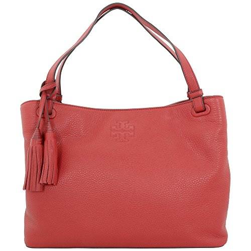 Tory Burch Thea Zip Tote Rust Red Pebbled Leather Ladies Handbag 11169713601