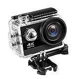 Luoshan Caméra Plongée sous-Marine, Ultra HD 4K Camera Action 60fps 24MP WiFi Sport Caméra 2,0 Pouces écran Large 170 Go Sports Ange Waterproof Pro caméra vidéo DV