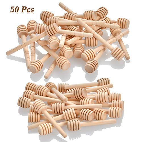 50 Pack 3 - 4 Inch Wooden Honey Dippers
