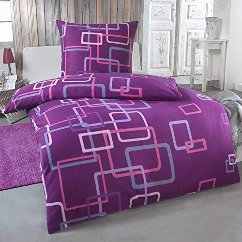 DreamHome Warme Winter Microfaser Thermo Fleece Bettwäsche 135x200 155x220 200x200 Moderne, Größe:135 x 200 cm, Design - Motiv:Design 12