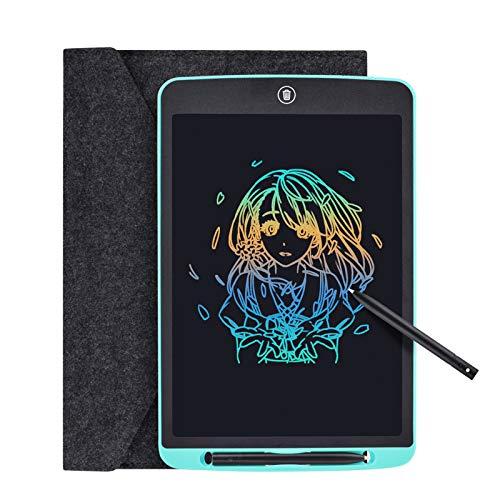 Tyhbelle Tableta de escritura LCD de 12 pulgadas de colores digitales, con bloqueo de memoria, portátil, para escribir a mano, para niños, hogar, escuela, oficina, (azul, 30,48 cm)