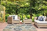 Luxor Living Outdoorteppich Webteppich Lost Garden für den Außenbereich florales Design/In- und Outdoor geeignet, Farbe:Beige-Blau, Größe:80 x 150 cm - 9