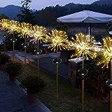 2pcs Solar Garten Licht Dekoration Licht,SUAVER 150LED Feuerwerk Lichter Solar...