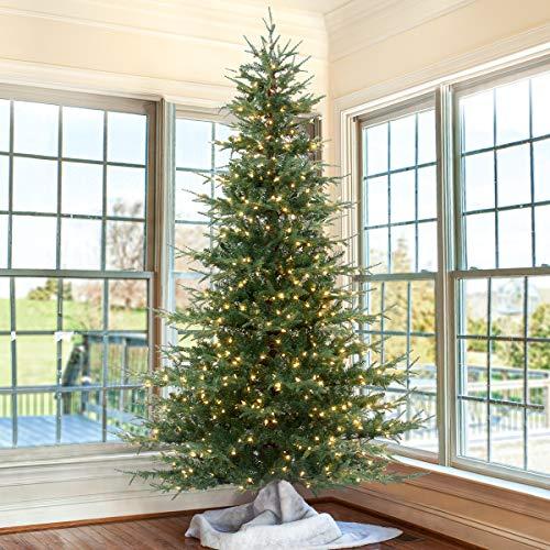 OasisCraft 7.5 feet Pre-Lit Aspen Fir Artificial Christmas Tree with 750 Clear Lights (Pre-lit, 7.5FT)