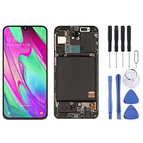Dmtrab Pantalla LCD de la Pantalla LCD de Repuesto y digitalizador Asamblea Completa con el capítulo for Galaxy A40 SM-A405F (Negro) Pantalla LCD (Color : Black)