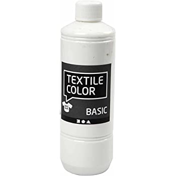 Pintura textil, blanco, 500 ml