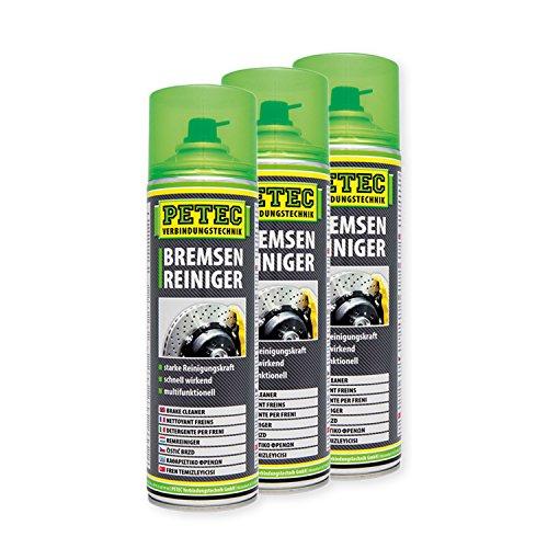 Petec_bundle 3X PETEC BREMSENREINIGER Scheibenbremse Spraydose Entfetten 500 ML 70060