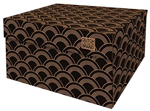 Cajas de almacenamiento decorativas con tapa – Tamaño: 38,9 x 31,8 x 21,1 cm – Cajas de almacenamiento con tapa – Cartón reciclable certificado FSC (impresión: vinilo)