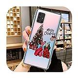Funda para Samsung Galaxy Note 10 Pro S10 S20 Plus Ultra A10 A20 A30 A40 A50 A51 A70 A71 A9 Merry Christmas Cover-A8464-For S10