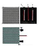 WS2812B RGB 5050SMD Individually Addressable Digital 8x32 256 Pixels Matrix Flexible FPCB Full Color Works with K-1000C,etc Controllers Image Video Text Display DC5V (16x16 256 Pixel Screen)