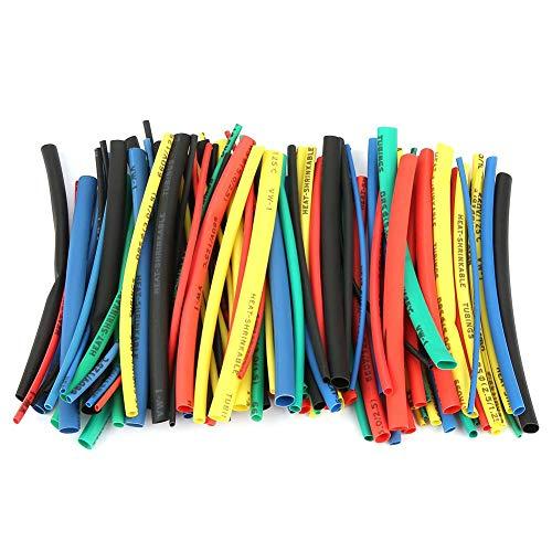 100 stücke Schrumpfschlauch Sortiment 5 Größen 5 Farbe 100mm Draht Kabel Isolierte Hülse Set