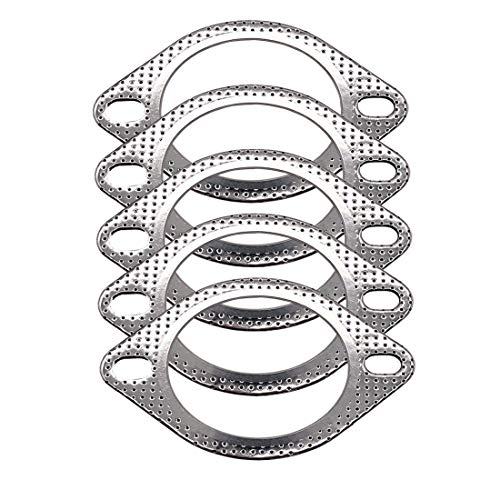 """5 Pcs Exhaust Flange Gasket 3"""" High Temp for Exhaust Turbo Downpipe Catback Headers Stainless Steel 120-07610-0005"""