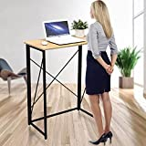 Foldable Stand-Up Desk, Folding Standing Desk for Laptop & Computer, Simple Home Office Computer Workstation, No Assembly Required & Space Saving Writing Table