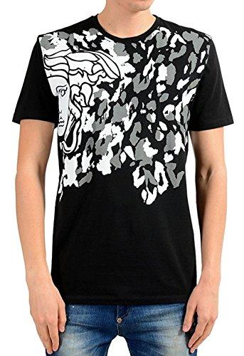 Versace Collection Herren T-Shirt Medusa Logo (L, Schwarz)