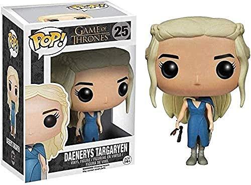 Figura de acción Juego de Tronos Figura Pop: Daenerys Targaryen Adornos en Caja Figura de Vinilo Coleccionable 10CM