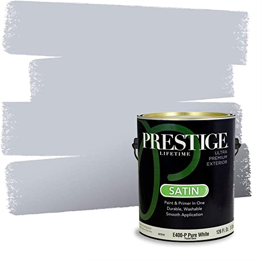 Prestige Paints Exterior Paint And Primer In One 1 Gallon Flat Comparable Match Of Behr Intercoastal Gray Amazon Com
