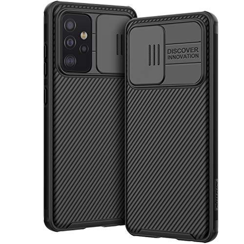 AROYI Hülle Kompatibel mit Samsung Galaxy A52 5G / 4G, Kameraschutz mit Slide Camera Cover - Schwarz