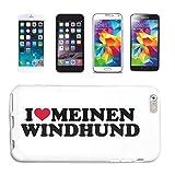 Reifen-Markt Carcasa para Samsung Galaxy S3 Mini, diseño de perro con texto 'I Love My Wind', color negro