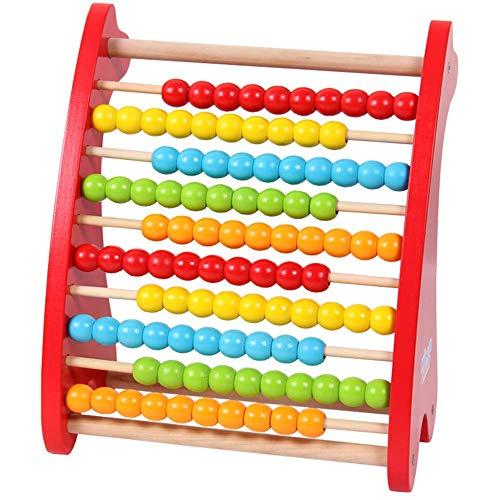 Jouets Interactifs pour Enfants Développement Jouet d'apprentissage Abacus Jouet classique Nombres de jouets en bois Math Compter Perles Jouets Matériel de manipulation éducatifs for enfants en bas âg