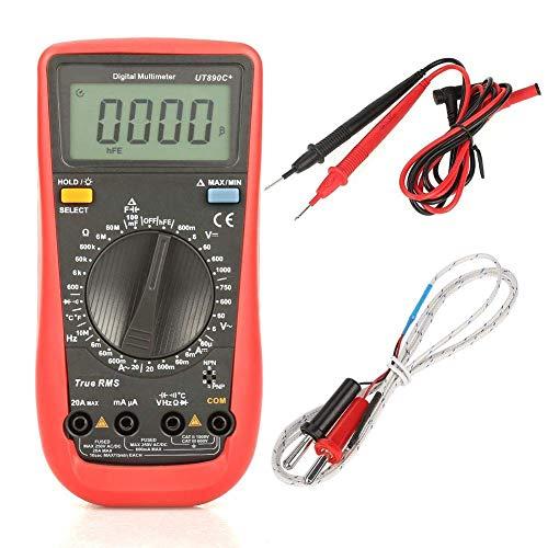 Electrotécnico Digital Multímetro Multímetro Digital, medidor Industrial de Rango automático para Mantenimiento eléctrico, Kit de Prueba para Voltaje, Corriente, Resistencia y Condensador de CA/CC
