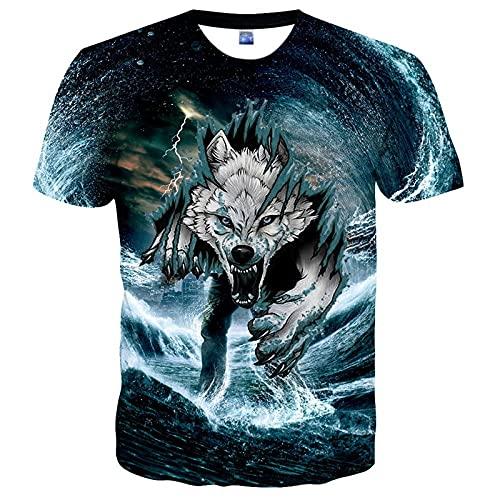 SSBZYES Camiseta para Hombre Camiseta De Gran Tamaño para Hombre Camiseta De Cuello Redondo con Estampado Camiseta De Pareja De Cobertura De Verano Camiseta De Moda Informal con Estampado De Tigre