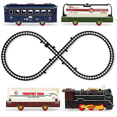 Boley Steam Kids Train Set - 22 Pc Electric Train Toy and Track Set for Ages 5+