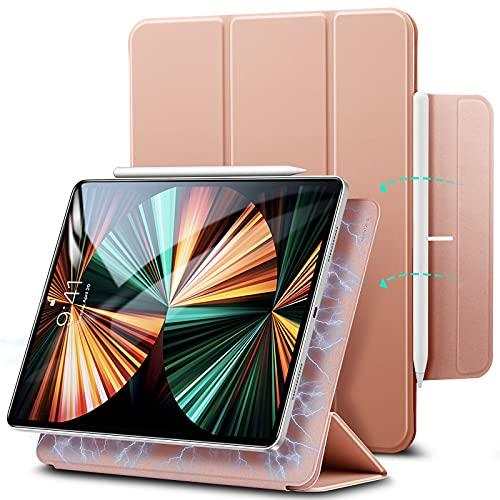 ESR Rebound Smart Magnetic Case para iPad Pro 11 2020 e 2018, Prática Magnetic Fixation, Compatível com Pen Pairing and Charging, Smart Case, Função Auto Power On/Off, Triple Stand, Rose Gold