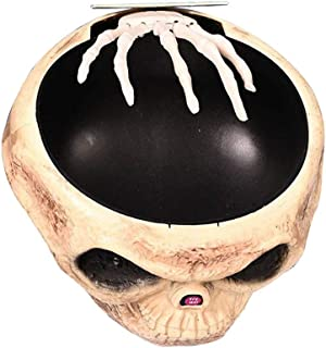 tesyyke Halloween Candy Bowl Skull with Animated Hand Electric Props Decoration for Party Home Tables