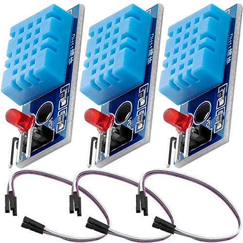 AZDelivery 3 x DHT11 Breakout Modul mit Platine und Kabel Temperatursensor und Luftfeuchtigkeitssensor kompatibel mit Arduino