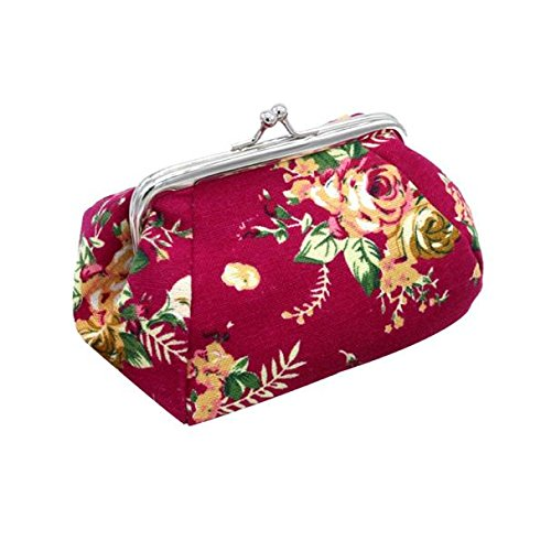 Frauen Retro Lightweight Flower Small...