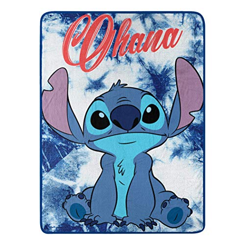 "Kids Warehouse Disney Tangled Wonder-Überwurf, 116,8 x 152,4 cm 46"" by 60"" Lilo and Stitch Ohana"