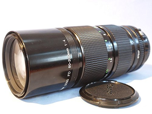 Canon FD 80-200mm F/4 Telephoto Zoom Lens & Extender