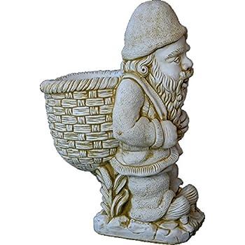 DEGARDEN Figura Decorativa Enano con Saco de hormigón-Piedra para ...