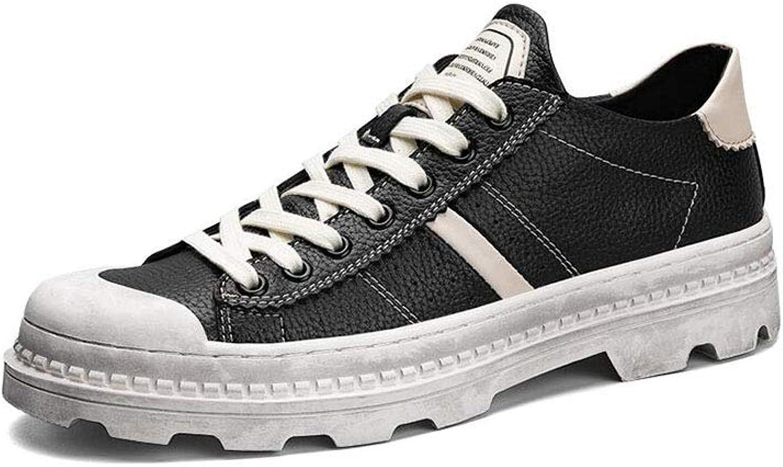 FF Retro Male shoes Work shoes Big shoes Low Help Martin Boots Black shoes