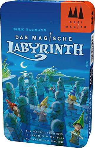Hans im Glück Schmidt Spiele DREI Magier Spiele 51401Magico Labirinto in Scatola di Metallo, Gioco
