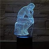 orangeww Schreibtischlampe Nachttisch Skulptur Figur Touch Sensor Dekorative Lampe Kind Kinder Beleuchtung LED Nachtlicht-in LED Nachtlichter/Lava Effekt 16 Farbe