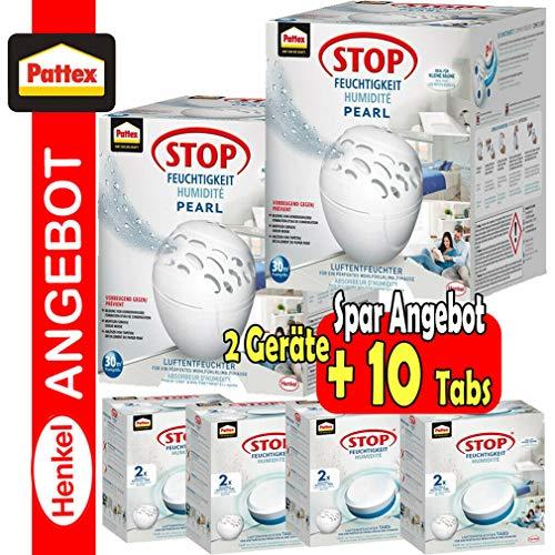 2 Pattex Stop Feuchtigkeit Pearl Geräte inkl. 10 neutral Nachfülltab Ultra Aktiv (10x300g)