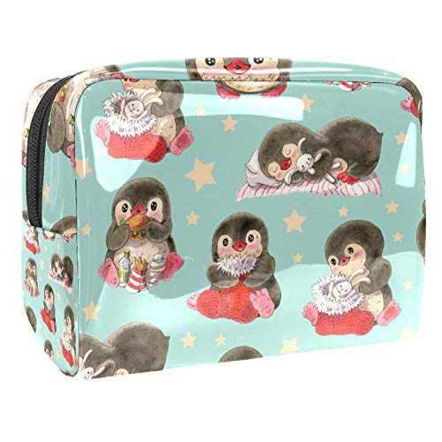 Maquillage Cosmetic Case Multifunction Travel Toiletry Storage Bag Organizer for Women - Cute Penguin Painting