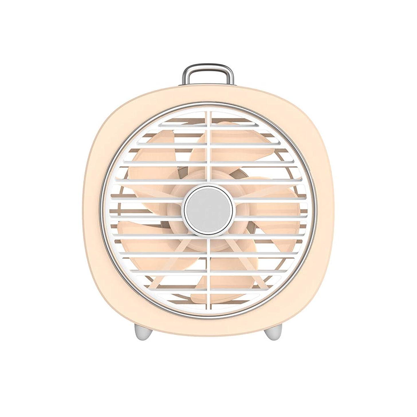 Aobiny Fan,Mini Desktop Rotating Fan LED Night Light USB Rechargeable Silent 3-Speed Wind