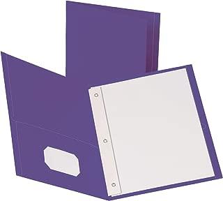Oxford Two-Pocket Folders w/Fasteners, Purple, Letter Size, 10 per Pack, (57783)