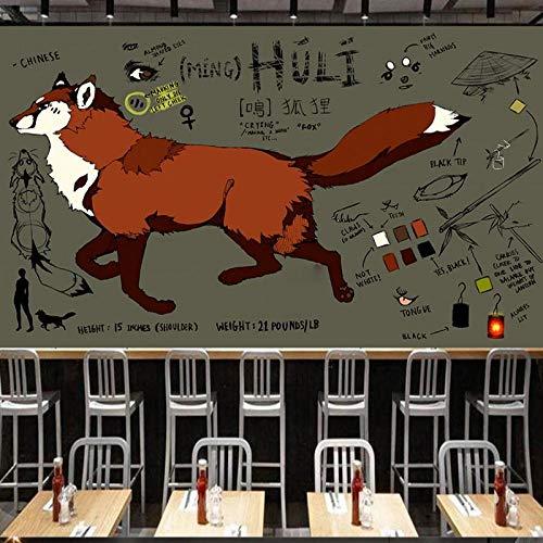Dibujos animados animal foxHome Decoración Arte de la pared Murales Calcomanías sala de estar Vivero Restaurante Hotel OfficeHD mural